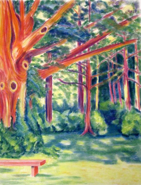 Trees Pastel Drawing