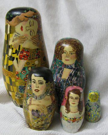 Klimt reproduction nesting dolls