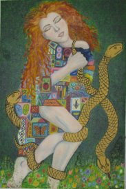 Klimt Inspired Portrait
