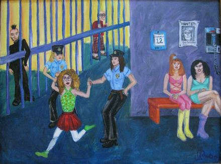 Fashion Police Acrylic Painting