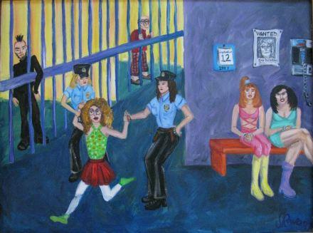Fashion Police Acrylic Painting