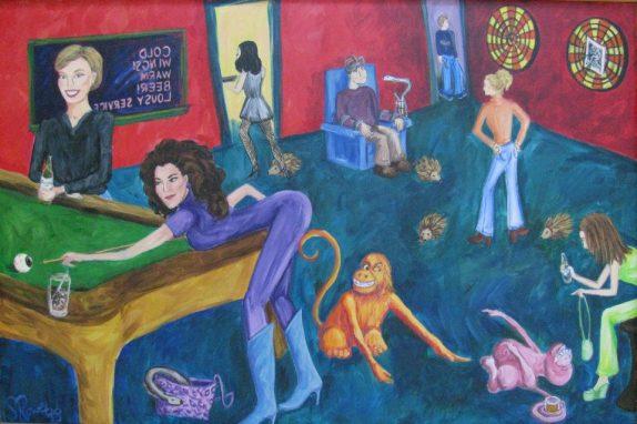 Ladies Night Acrylic Painting