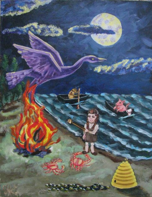 Phoenix Acrylic painting