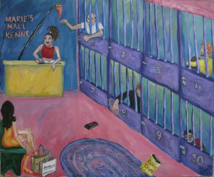 Male Kennel Acrylic Painting