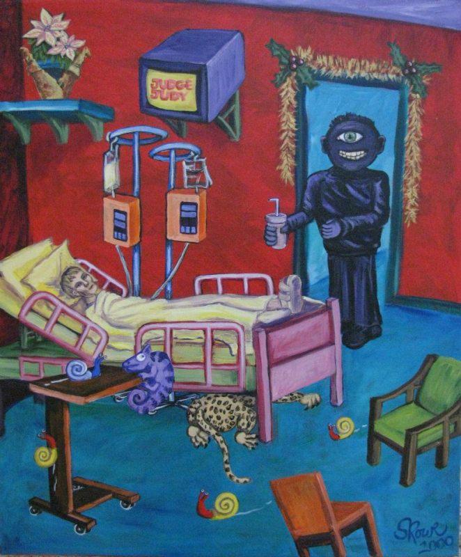 Happy Holidays Acrylic Painting Hospital