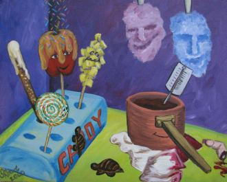 The Candy Coated Acrylic Painting