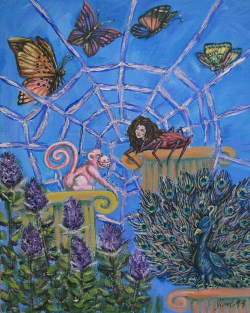 Itsy Bitsy Spider Acrylic Painting