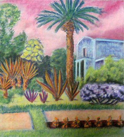 San Antonio Pastel Drawing