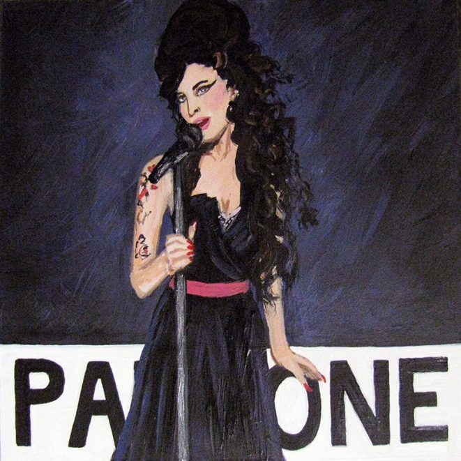 Amy Winehouse Back to Black Pantone