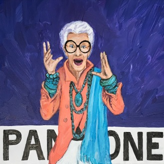 Pantone 18-3943 Blue Iris (Iris Apfel) | 2017 | Currently available at Whitman Works