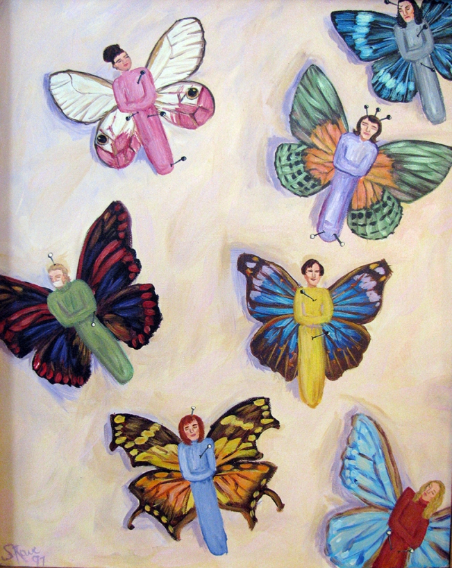 Mariposas | Acrylic on canvas | 1997 | NFS