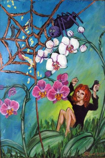Miss Muffet | Acrylic on canvas | 2000 | NFS
