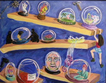 Snowglobes | Acrylic on canvas | 1997
