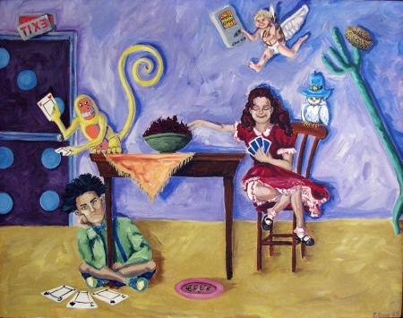 The Brainteaser Acrylic Painting