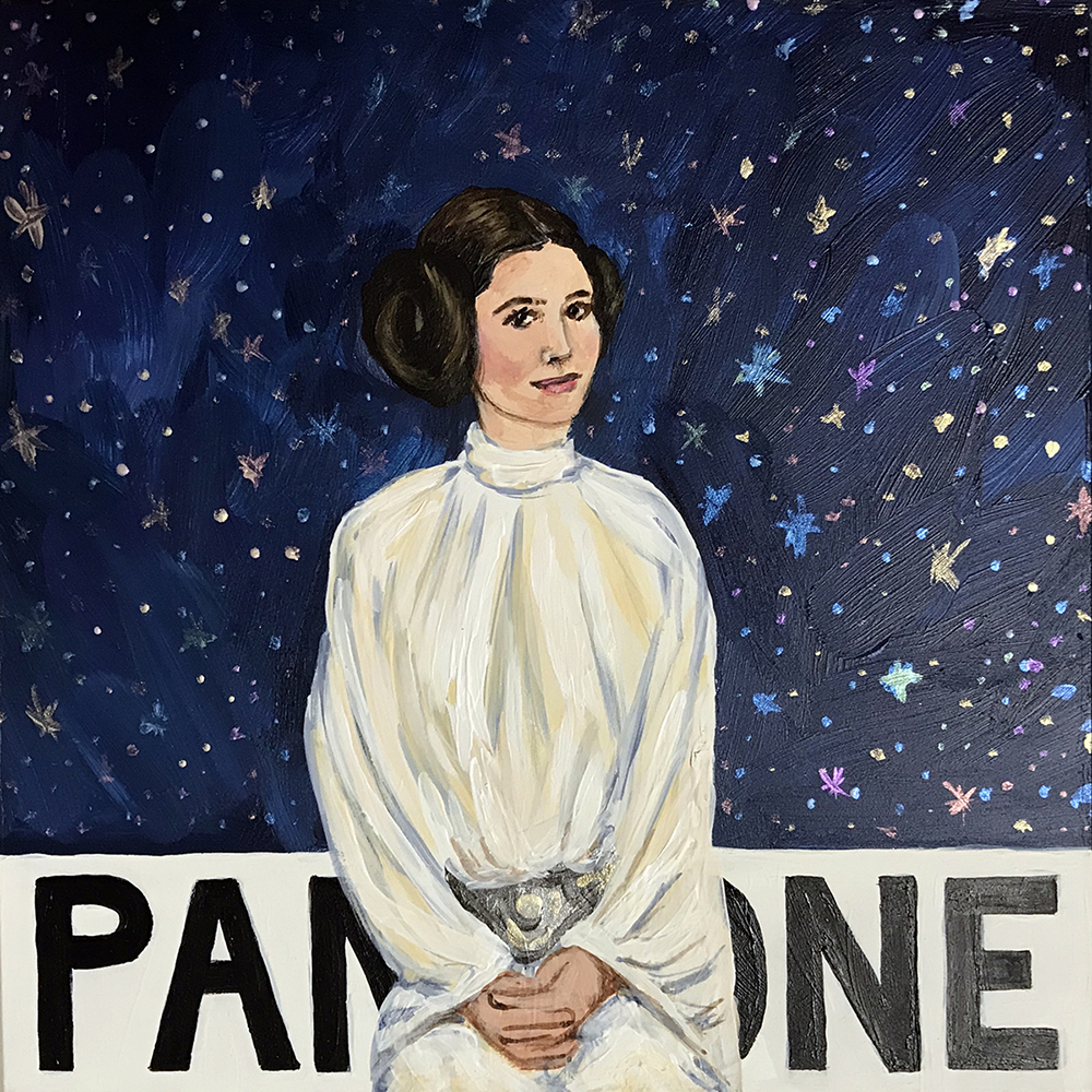 Pantone 19-4055 Galaxy Far, Far Away Blue (Carrie Fisher) | 2017