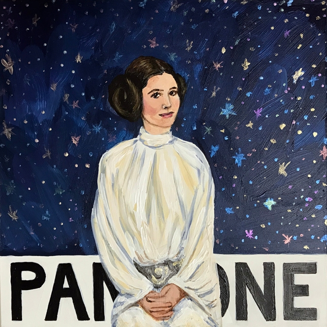 Pantone 19-4055 Galaxy Far, Far Away Blue (Carrie Fisher)