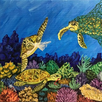 Turtles, Plastic, Coral Reef