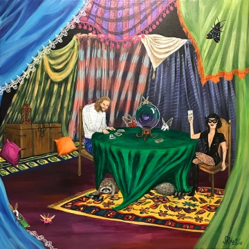 Crystal Ball, Gypsy Moths, Tarot