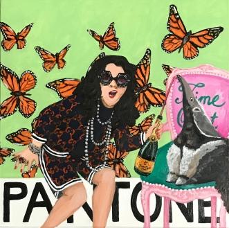 Pantone 12-0322 Butterfly, Ashley Longshore