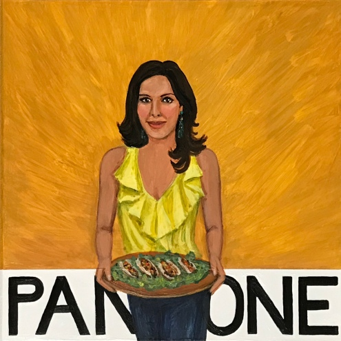 Pantone 15-0948 Golden Spice, Padma Lakshmi